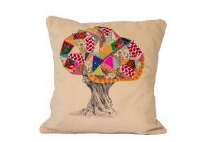 Embroidered Cushion - OLIVE TREE 50x50