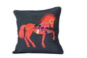 Embroidered Cushion - Horse Motifs 50x50