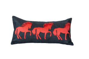 Embroidered Cushion - Three Horses 60x30