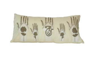 Embroidered Cushion - Floral & Calligraphic Motifs 60x30