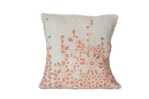 Embroidered Cushion – Geometry 50x50 - Pink