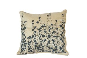 Embroidered Cushion – Geometry 50x50 - Grey