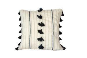 Embroidered Cushion - Saddle 50x50 - Black