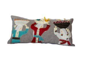 Embroidered Cushion - Rural Women 60x30