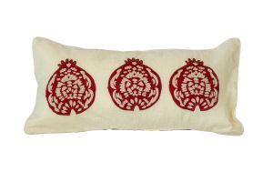 Embroidered CUSHION – Pomegranates 60x30