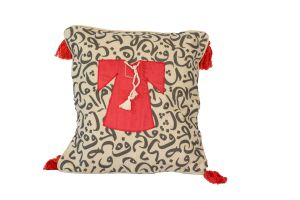 Embroidered Cushion - Thobe & Calligraphy 40*40