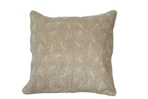 Embroidered Cushion - Olive Leaves 50x50