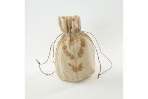 Embroidered Floral Bag - Beige