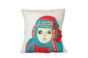 Embroidered Cushion - Bedouin Woman 45x45