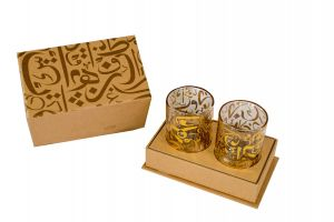 كوبان شاي مع صندوق بالخط العربي