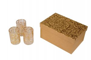 TEA GLASSES WITH CALLIGRAPHY AND BOX (6)