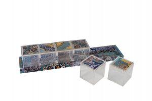DECOUPAGE TRAY WITH 6 PLEXI BOXES