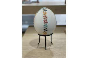 Ostrich Egg with Embroidery