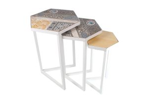DECOUPAGE TABLE-White