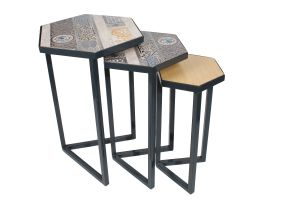 DECOUPAGE TABLE-Black