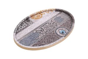 OVAL DECOUPAGE TRAY - TRADITIONAL