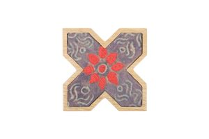 X WALL HANGING-Dark Grey/Red