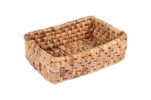 RECTANGULAR BASKET - BANANA LEAVES – MEDIUM