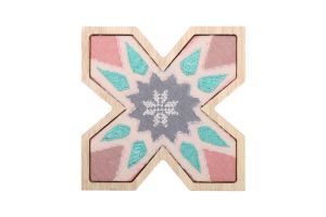 X WALL HANGING-Light Blue/Beige