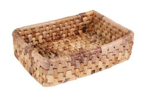 RECTANGULAR BASKET - BANANA LEAVES – LARGE