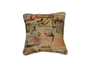 Cushion Featuring Print Stamps 30*30