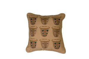 Embroidered Cushion - Coffee Cups 30*30