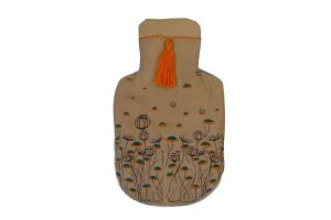 Embroidered Rubber Water Bag-Orange